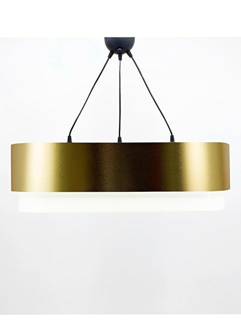 Crea Lighting Doubleshade Salon Sarkıt 70cm-3 Ampul Altın